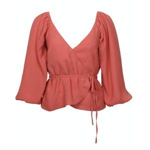NWT!! Mink Pink Wrap Top